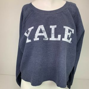 Recycled Karma Crop Top Yale University Blue Med